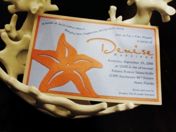 Starfish Invitation by Magna Carta Invitations