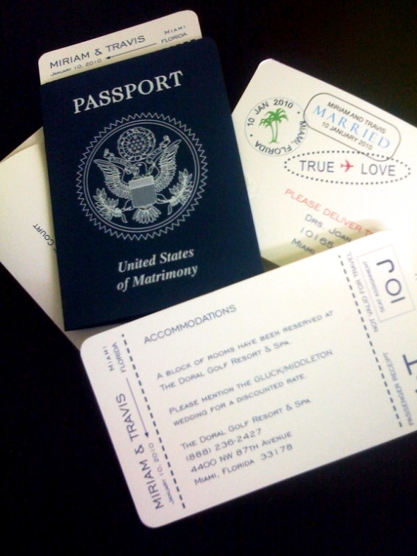 Passport Invitation Miami Coral Gables