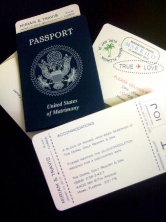 Passport Invitation Miami Coral Gables