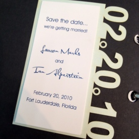 Save the Date Laser Cut Date