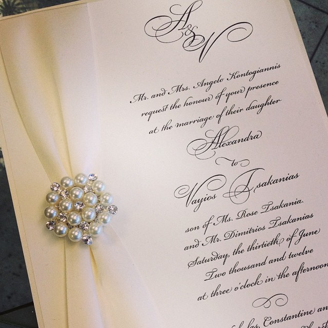 Pearl Brooch Invitation