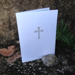 Roman Cross Communion Laser Cut Card